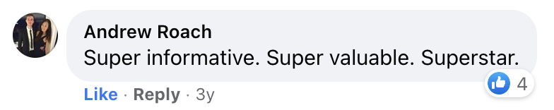Andrew Roach, Creator Marketing Manager at TikTok saying Tim Kock's content is super informative and super valuable.
