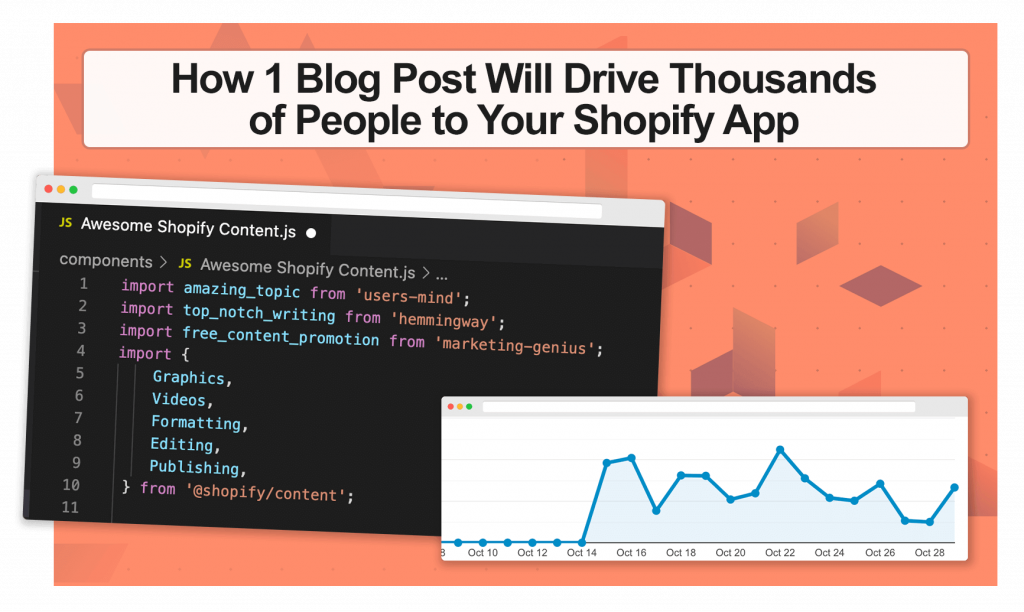 How one blog post will drive thousands of people to your Shopify app